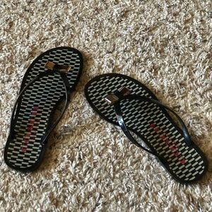 Coach Landon Black Jelly flip flop sandals.  Sz 6B